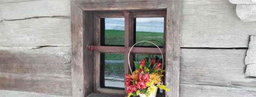 geam rustic casa lemn